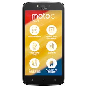 MOTOROLA Moto C Plus Smartphone, 12,7 cm (5) HD Display, Android™ 7.0, 16 GB Speicher, Quad-Core-Prozessor, Dual-SIM, LTE