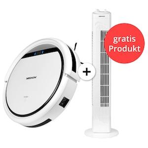 MEDION® Haushaltsbundle - Saugroboter MD 18500 + gratis Turmventilator MD 18164