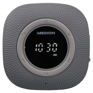 MEDION® Radio de douche LIFE P66096 | Bluetooth 5.0 | LED-Display | FM radio | IPX6 étanche | 30 Watt