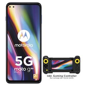 MOTOROLA moto g 5G plus Smartphone, 17 cm (6,7) FHD+ Display, Android™ 10, 64 GB Speicher, 4 GB Arbeitsspeicher, Octa-Core-Prozessor, Bluetooth® 5.0, 5G LTE + G Controller - ARTIKELSET