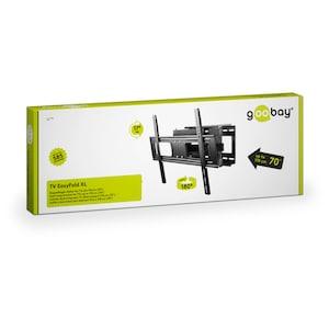 GOOBAY EasyFold XL TV-Wandhalterung, für Geräte von 32'' bis 70'' (81-178cm), neig- & schwenkbar, VESA max. 600x400mm, Traglast 40 kg