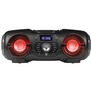 MEDION® LIFE® P65104 Mobiles Bluetooth-Stereo-Soundsystem mit wechselnden, farbigen Lichteffekten, CD-Player, USB Anschluss, 2 x 12,5 Watt RMS (B-Ware)