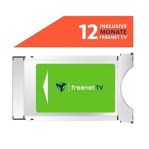 TELESTAR freenet TV CI+ Modul, für DVB-T2 HD und 4K/UHD geeignete Geräte, ermöglicht den Empfang via DVB-T2 HD ausgestrahlter verschlüsselter TV-Programme im Rahmen des freenet TV Angebotes, inkl. 12 Monate freenet TV