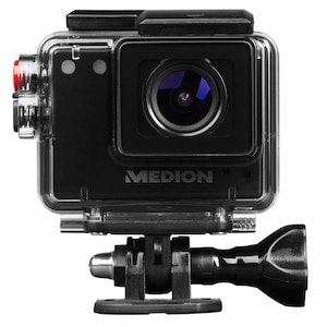 MEDION® LIFE® S41004 Full HD Action Camcorder, Wasserdichter Full HD Action Camcorder, Video- und Fotofunktion, Weitwinkelobjektiv (B-Ware)