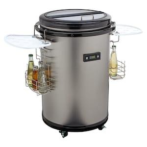 MEDION® Party-Kühlfass MD 37354 mit geräuscharmen Kompressor, Nutzinhalt 48 L, Glasdeckel, LED-Display