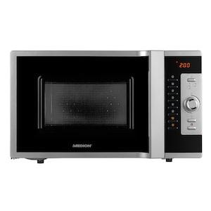 MEDION® 3in1 Mikrowelle MD 18502, Kombination aus Mikrowelle, Ofen und Grill, 5 Automatikprogramme, 28 L Garinnenraum