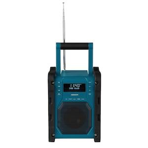 MEDION® LIFE® P66098 DAB+ Baustellenradio mit Bluetooth Funktion, Dot-Matrix LC-Display, DAB+, PLL-UKW, RDS, kabellose Musikübertragung von Smartphone oder Tablet