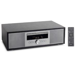 MEDION® LIFE® P64145 All-in-One Audio System, DAB+/PLL-UKW Stereo-Radio, Bluetooth®, CD/MP3-Player, Wiedergabe von Musikdateien vom USB-Stick, elegantes Design, 2 x 15 W RMS, Farbe: anthrazit