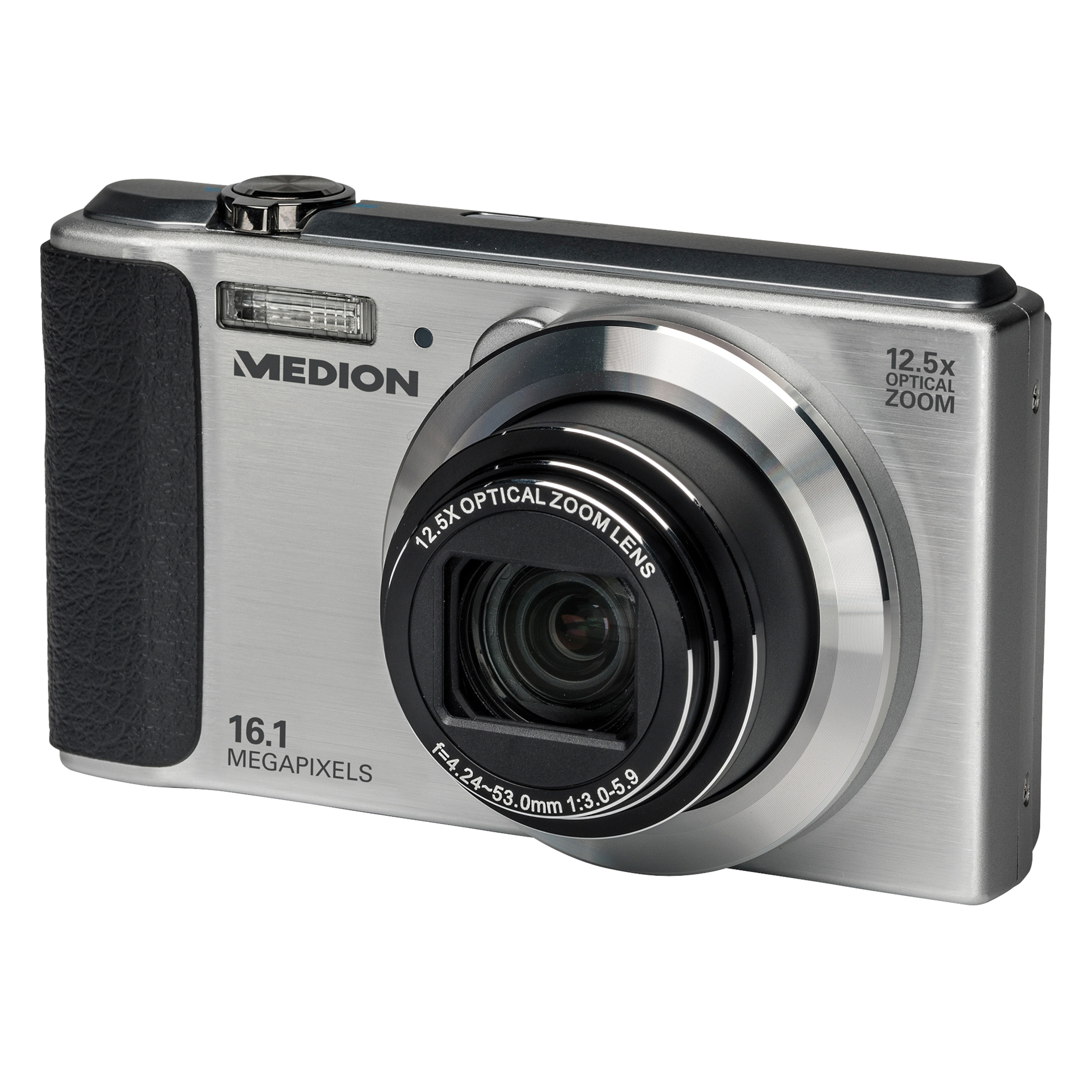 "MEDION® LIFE® P44012 Digitalkamera, 16MP, 86 cm (2,7"") LC-Display, 12,5-fach optischer Zoom, Mechanischer Bildstabilisator, HD Videoauflösung 720p"