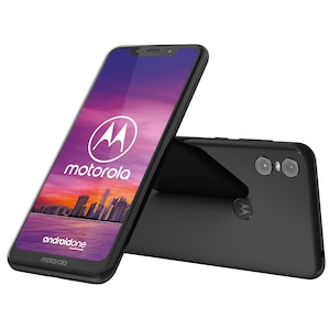 MOTOROLA Moto One Smartphone, 14,98 cm (5,9) HD+ Display, Android™ 8.1 (Update auf Android™ 9 möglich), 64 GB Speicher, Octa-Core-Prozessor, inkl. Schutzcover, LTE, schwarz