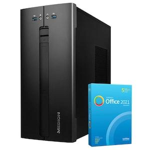 MEDION® AKOYA® E62013, Intel® Core™ i5-10400, Windows10Home, 512 GB SSD, 8 GB RAM, Multimedia PC, inkl. SoftMaker Office Standard 2021