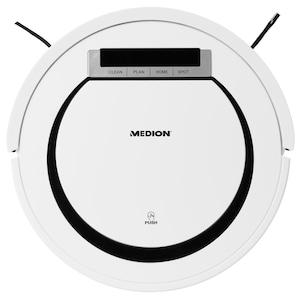 MEDION® Saugroboter MD 18600 für alle Hartböden und kurzflorige Teppiche, Tierhaar optimiert, 90 Min. Laufzeit, Rückkehr zur Ladestation, Programmierfunktion & Sicherheitssensoren