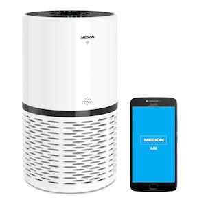 MEDION® Luchtreiniger MD 10171 | Verlaagt aerosolconcentraties | App-bediening | Aanraakbedieningspaneel | HEPA-filter | Luchtkwaliteitsweergave | Timerfunctie | 23 watt