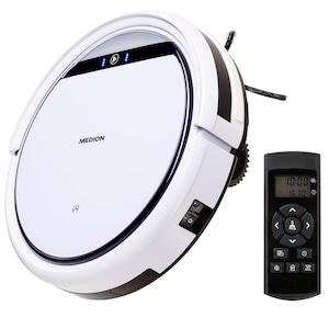 MEDION® Robotstofzuiger E32 MD18510 | Reiniging stof, haar & pollen | Programmeerfunctie | 120 min. looptijd & automatisch opladen