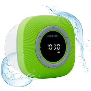 MEDION® LIFE P66096 Doucheradio | LED-display | FM | IPX6 bescherming | Bluetooth 5.0 | 30 W uitgangsvermogen | Groen