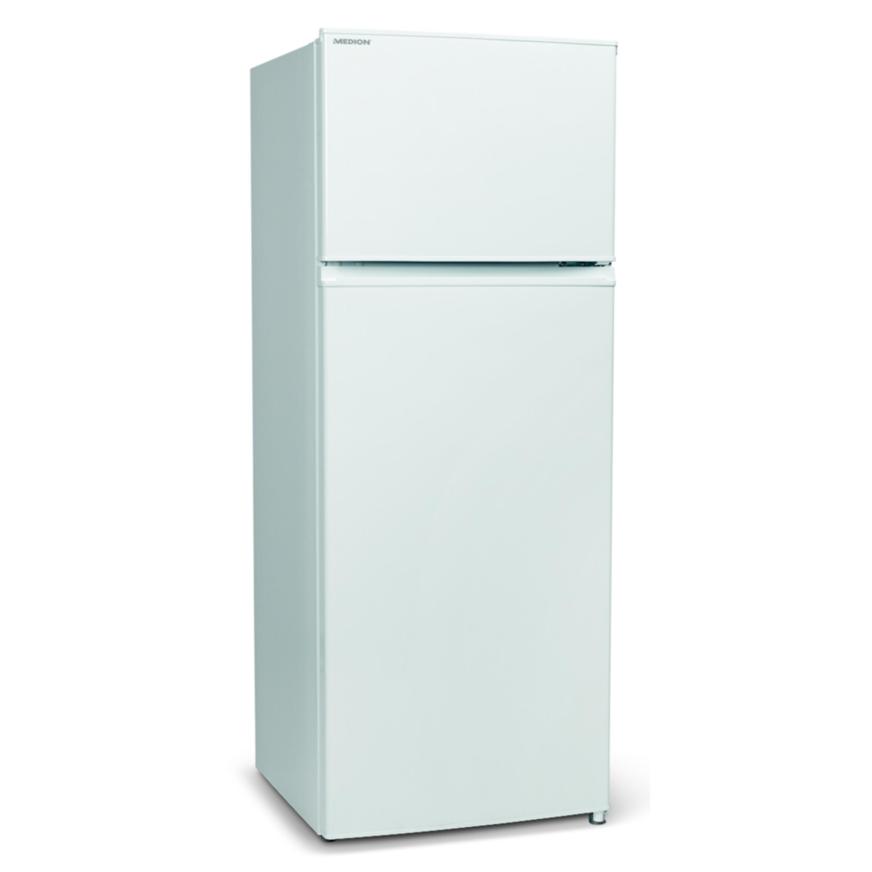 MEDION® Kühl-Gefrierkombination MD 37093, 207 Liter Gesamt-Nutzinhalt (166L Kühlteil & 41L Gefrierteil), automatische Abtaufunktion