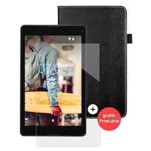 MEDION® LIFETAB® P8524 Tablet, 20,32 cm (8) FHD Display, Android™ 7.0, 64 GB Speicher, 2 GB RAM, Quad Core Prozessor, Metallgehäuse + GRATIS Tasche & Displayschutzfolie