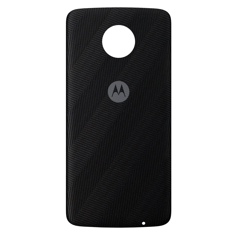 MOTOROLA moto Style Shell Herringbone Nylon Back-Cover, Premium-Materialien, individuell anpasspar, geeignet für alle Smartphones der moto z Familie