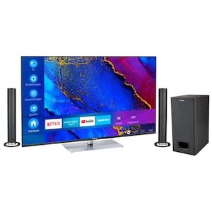 MEDION® BundelDEAL ! LIFE® X15061 50 inch Ultra HD-TV & P61220 Bluetooth Soundbar met Subwoofer