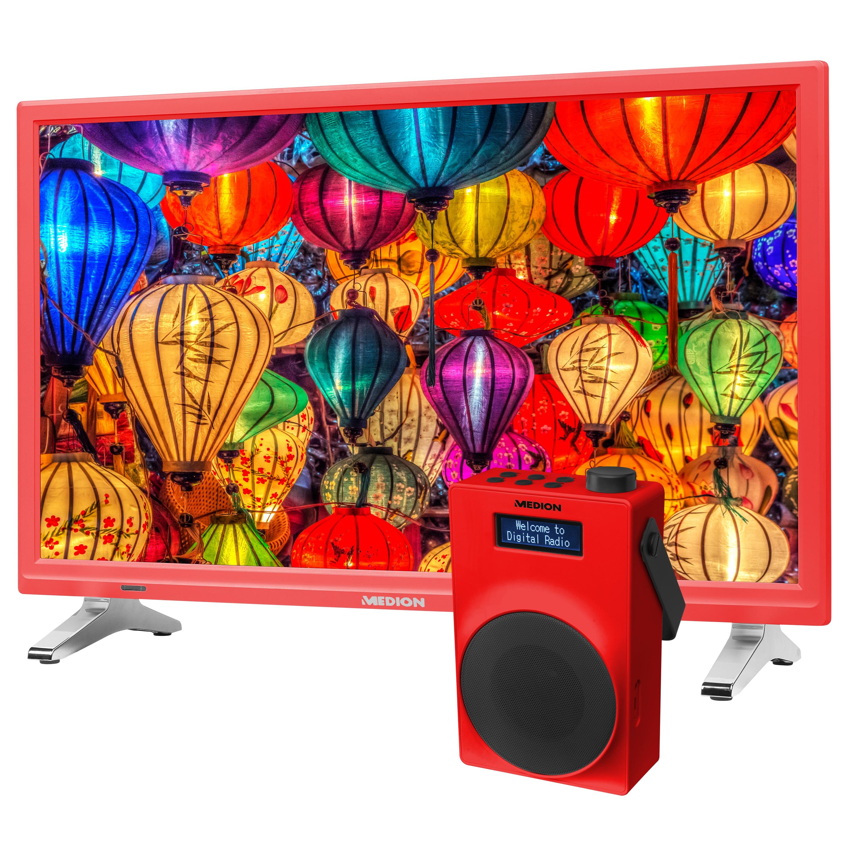 MEDION® LIFE® P12501 TV, 54,6 cm (21,5) LED-Backlight, HD Triple Tuner, integrierter DVD-Player, CI+, inkl. DAB+ Radio E66880