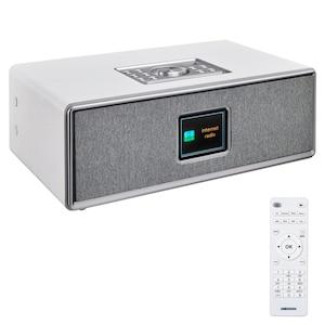 MEDION® LIFE® P85700 All-in-One Audio-System, 7,1 cm (2,8'') TFT-Display, Homestyle Wandhalterung, Internet- & DAB+, Bluetooth® 5.0, Nachtlichtfunktion und USB-Anschluss, 2 x 10 W RMS Ausgangsleistung