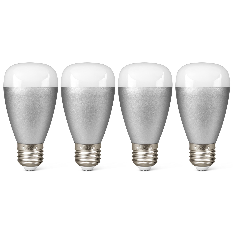 MEDION® 4 x RGB LED Leuchte P85716, Smart Home, Alle Farben dank RGB, Lichtdimmer, 50.000 Stunden Nutzungsdauer (RGB) - ARTIKELSET