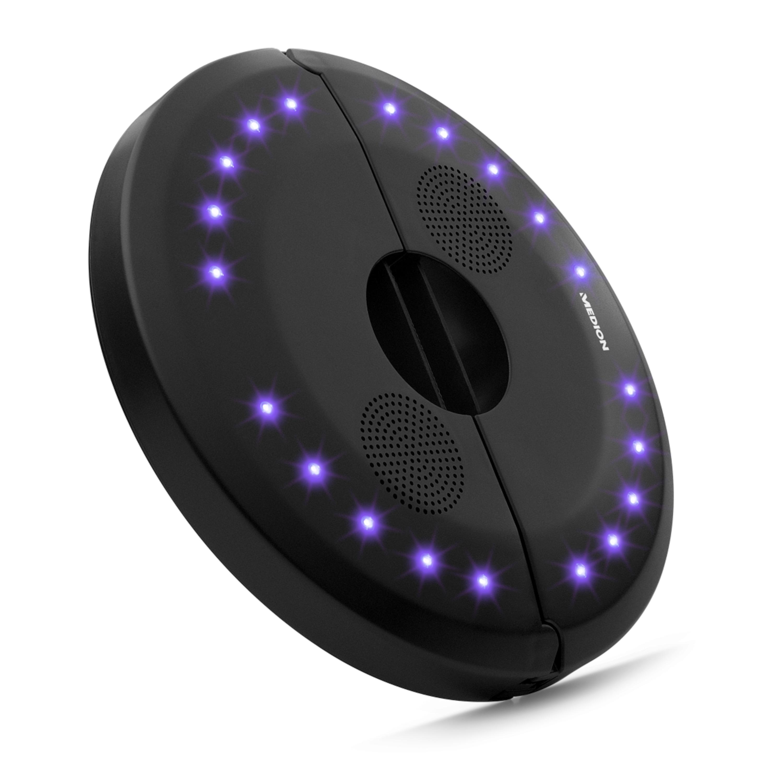 MEDION® LIFE® E61070 Bluetooth Luidspreker | Draadloze muziekoverdracht | Besturing via smartphone of tablet |  20 Sfeerlichtjes met 7 verschillende kleuren