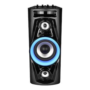 MEDION®  LIFE® P67014 Bluetooth® Partylautsprecher, PLL-UKW Stereo Radio, LC-Display, Karaoke-Funktion, 30 Senderspeicher, integr. Akku