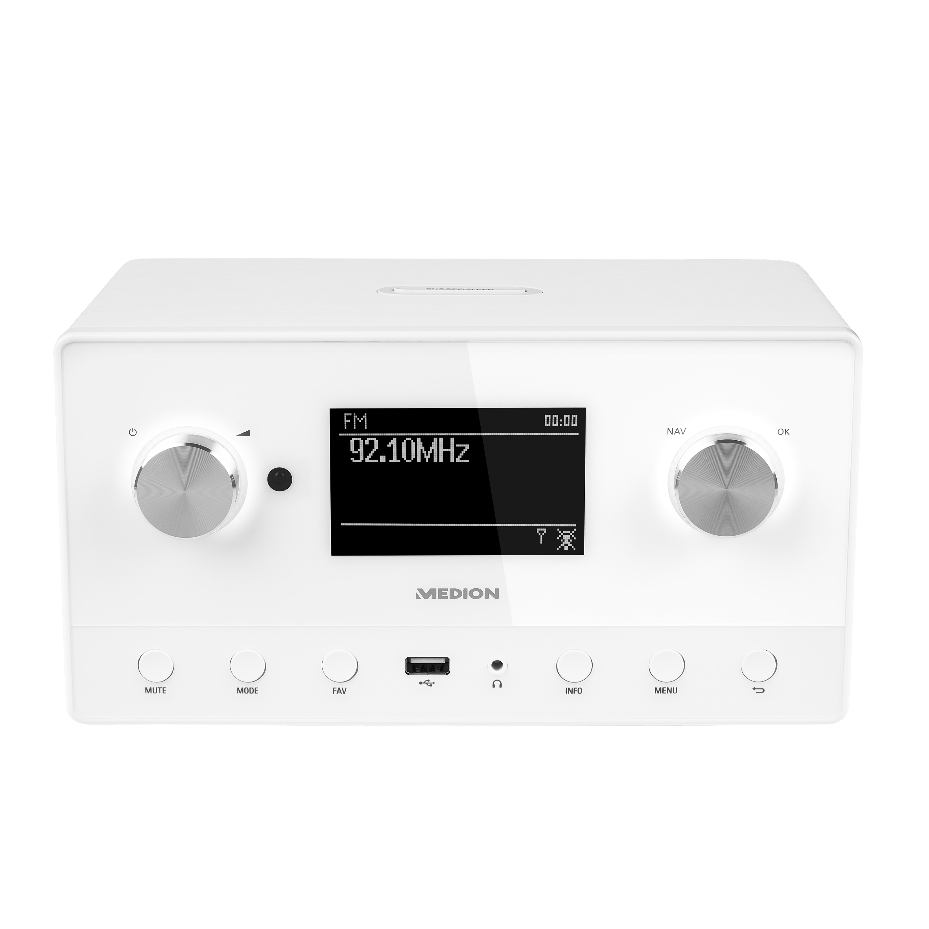 MEDION® LIFE® P85066 Stereo Internetradio, 8,9 cm (3,5'') LC-Display, DAB+, UKW, Radio Data System, Spotify®, Multiroom-Funktion