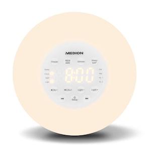 MEDION® PLL Uhrenradio P66080, PLL-UKW Radio, AMS, Radio Data System, Nap Timer, Sonnenaufgangssimulation