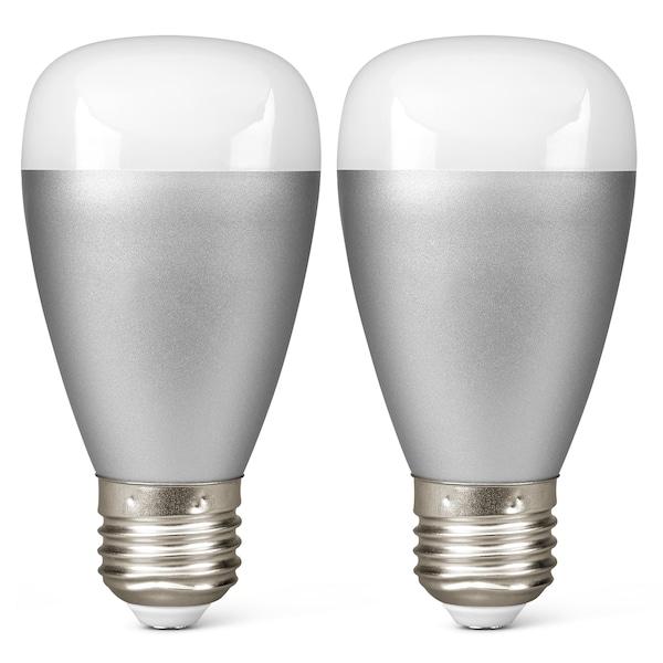 MEDION® 2 x RGB LED Leuchte P85716, Smart Home, Alle Farben dank RGB, Lichtdimmer, 50.000 Stunden Nutzungsdauer (RGB) ARTIKELSET