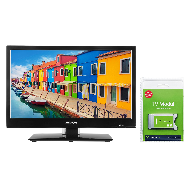 MEDION® LIFE® E11941 Fernseher, 47 cm (18,5'') LCD-TV, inkl. DVB-T 2 HD Modul (3 Monate freenet TV gratis) - ARTIKELSET