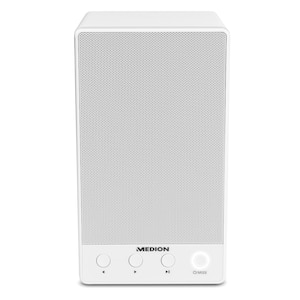 MEDION® LIFE® P61084 WLAN Lautsprecher, integriertes Internetradio, Multiroom, DLNA, USB, AUX, Steuerung über App, Push-to-Connect  (B-Ware)
