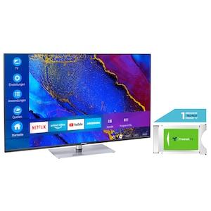 MEDION® LIFE® X16564 163,9 cm (65'') Ultra HD Smart-TV + DVB-T 2 HD Modul (1 Monat freenet TV gratis) - ARTIKELSET