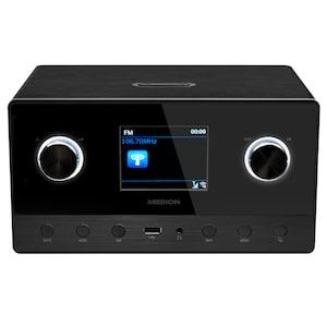 MEDION® LIFE® P85111 WLAN Internetradio, 8,1 cm (3,2'') TFT-Display, Multiroom-Funktion, DAB+, UKW, LAN, USB 2.0, AUX, DLNA/UPnP, 2 x 7 W + 1 x 15 W RMS (B-Ware)