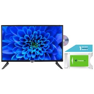 MEDION® LIFE® E12463 59,9 cm (23,6'') LCD-TV mit DVD-Player + DVB-T 2 HD Modul (1 Monat freenet TV gratis) - ARTIKELSET