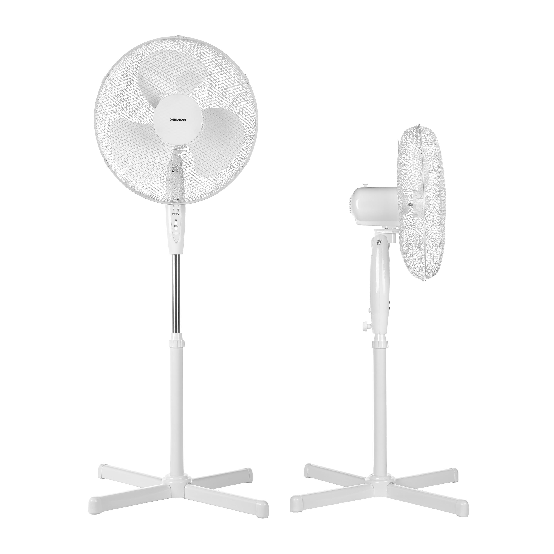 MEDION® Standventilator mit Fernbedienung MD 18795, 3 Geschwindigkeitsstufen, verstellbarer Höhe, Schwenkfunktion, Timer-Funktion
