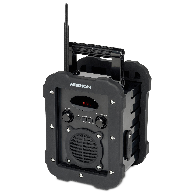 MEDION® LIFE® E66262 Freizeitradio, LED-Display, PLL-UKW Radio, Bluetooth®, IP44, spritzwassergeschützt