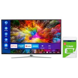 MEDION® LIFE® X15511 Smart-TV, 138,8 cm (55'') Ultra HD Fernseher, inkl. DVB-T 2 HD Modul (3 Monate freenet TV gratis) - ARTIKELSET