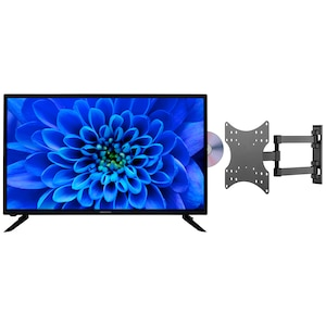 MEDION® Offre combinée ! LIFE® E13283 HD TV 31,5 pouces & GOOBAY Basic FULLMOTION (D20) Support mural