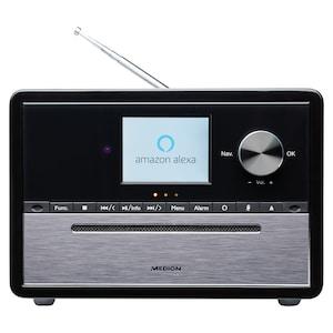 MEDION® LIFE® S64007 All-in-One Audio-System mit Amazon Alexa, 7,1 cm (2,8) TFT-Farbdisplay, DAB+/PLL-UKW, WLAN, Party Mode, EQ für Bass- und Höheneinstellung, Musikwiedergabe über Bluetooth®, 15 W RMS  (B-Ware)