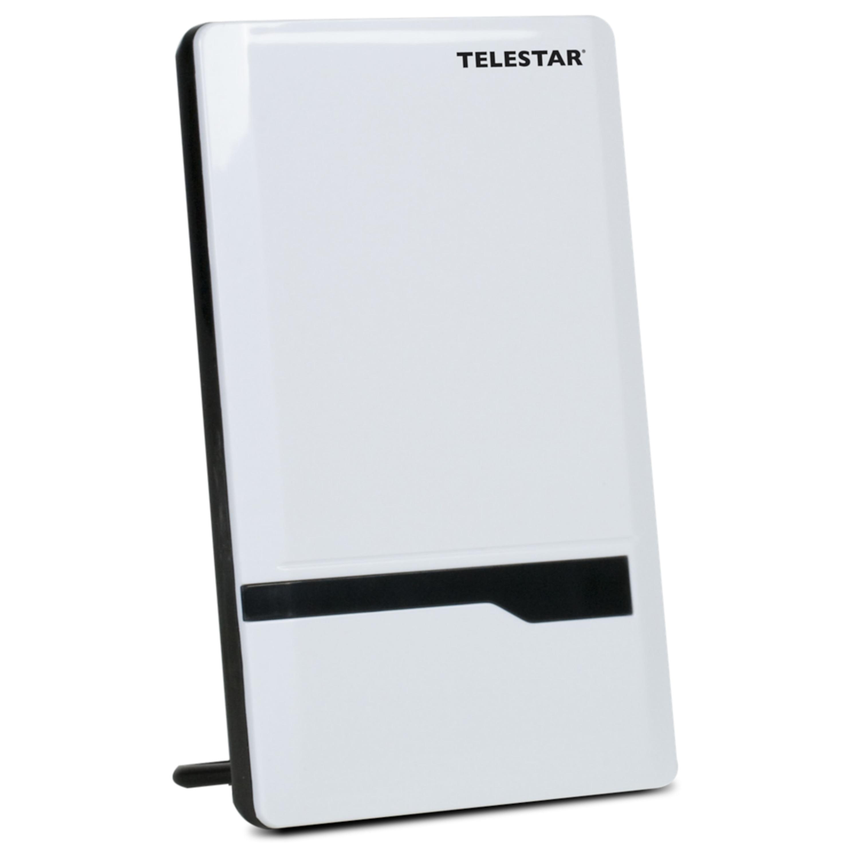 TELESTAR ANTENNA 7 LTE, Ultraflache DVB-T / DVB-T2 Antenne, LTE Filter, Klavierlackoptik, Verstärkung bis 35 dB
