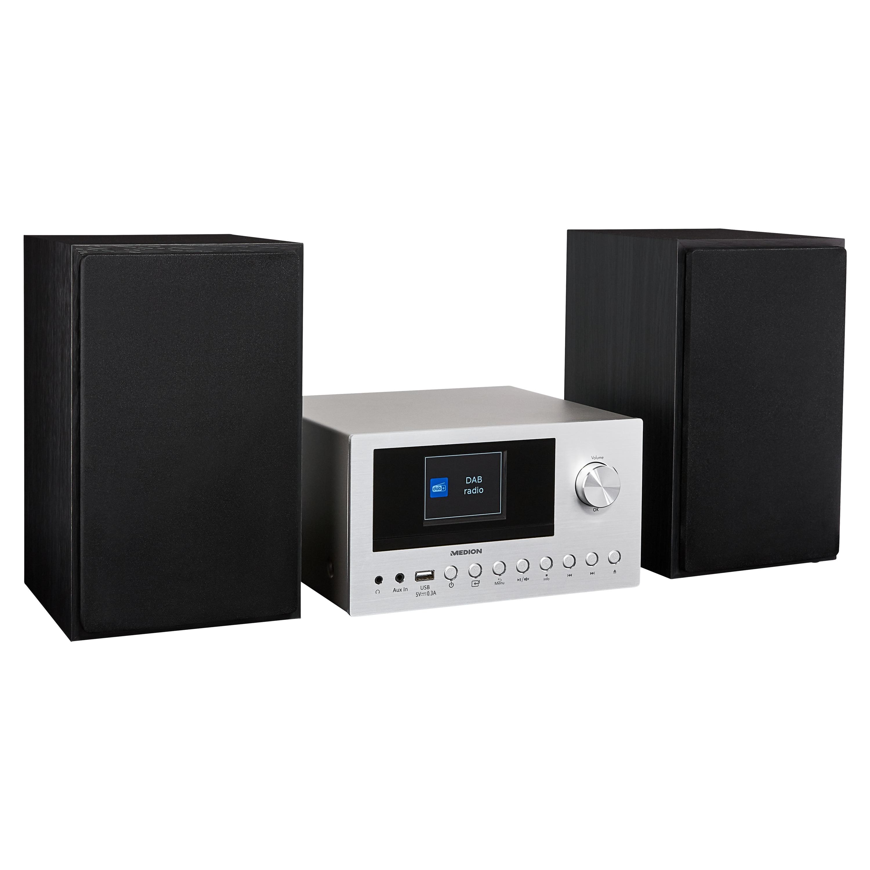 MEDION® DAB+ LIFE® P85003 Système audio | Radio stéréo PLL-FM sur Internet | 40 stations préréglées | Bluetooth 5.0 | Lecteur CD | WiFi| USB | 2 x 150 watts