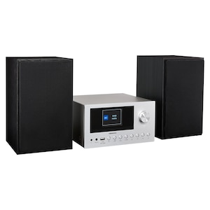 MEDION® DAB+ LIFE® P85003 Audiosysteem | Internet PLL-FM stereo radio | 40 Voorkeuzezenders | Bluetooth 5.0 | CD-speler | WLAN | USB | 2 x 150 Watt