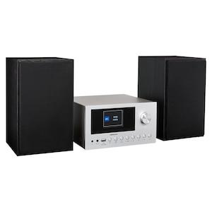 MEDION® LIFE® P85003 Micro-Audio-System, Internet/DAB+/PLL-UKW Stereo-Radio mit je 40 Senderspeichern, 2,8'' TFT-Farbdisplay, Bluetooth® 5.0, CD-Player, WLAN, USB, 2 x 150 W max. Musikausgangsleistung  (B-Ware)