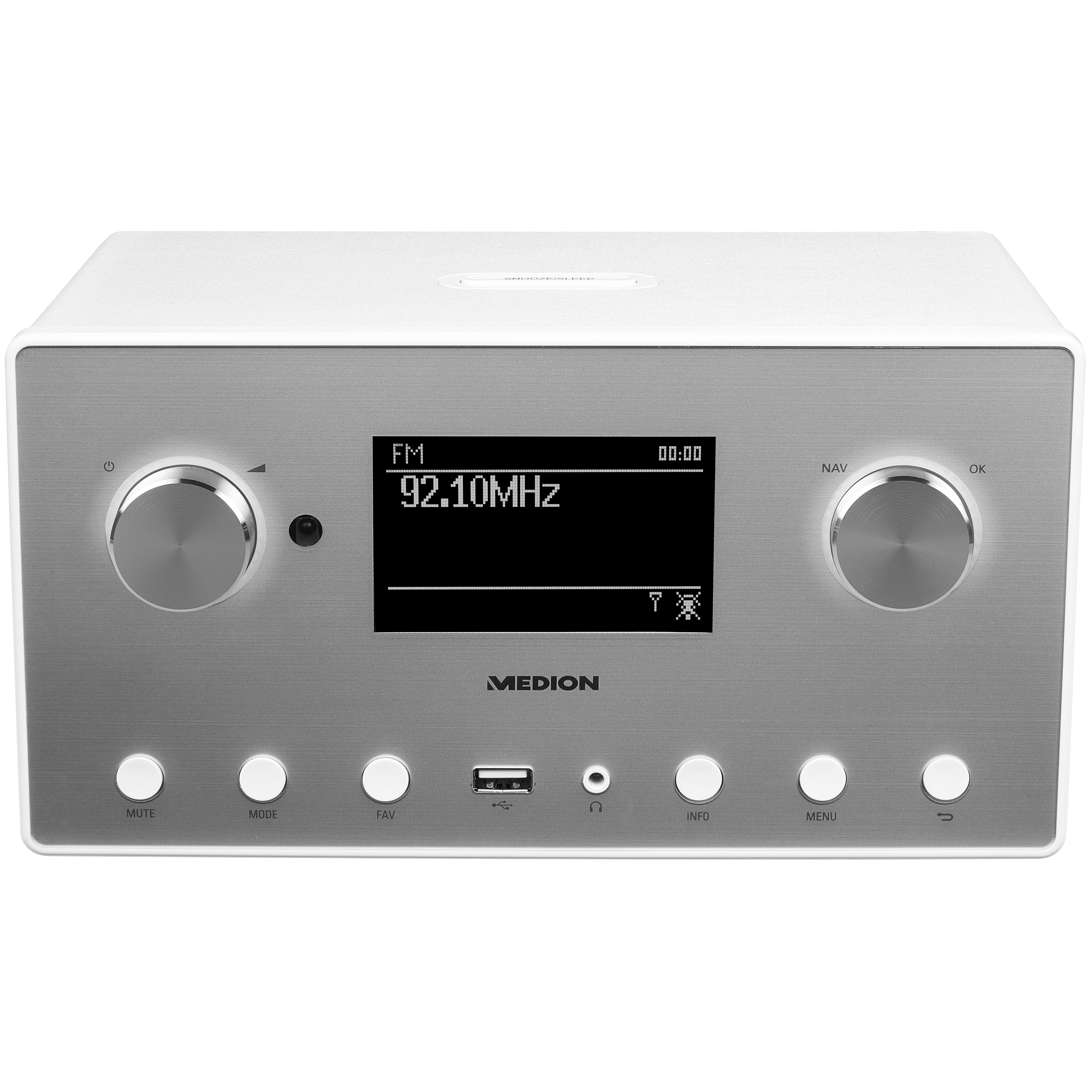 "MEDION® LIFE® P85080 Stereo Internetradio, 8,9 cm (3,5"") LC-Display, 15.000 Internet Radiosender, DAB+ Empfänger, WLAN, Spotify® Connect, USB, Bluetooth®, 2 x 7,5 W RMS"