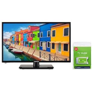MEDION® LIFE® E12443 Fernseher, 59,9 cm (23,6'') LCD-TV, inkl. DVB-T 2 HD Modul (3 Monate freenet TV gratis) - ARTIKELSET