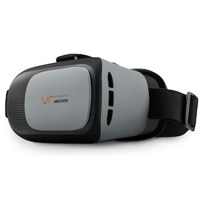 MEDION® X83070 Virtual Reality Headset, geeignet für die meisten 4,0'' bis 6,0'' Smartphones, flexibler Kopfgurt, einstellbarer Fokus