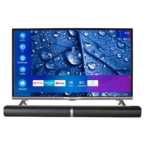 MEDION® BundelDEAL ! LIFE® P13225 31,5 inch Full HD Smart-TV & P61202 Bluetooth Soundbar