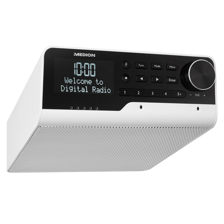 MEDION® LIFE® P66120 WLAN-Unterbauradio mit Amazon Alexa, perfekt für die Küche, Sprachsteuerung, Bluetooth®-Funktion, Spotify® Connect, Party Mode-Funktion, Internetradio, DAB+, DLNA-/UPnP kompatibel